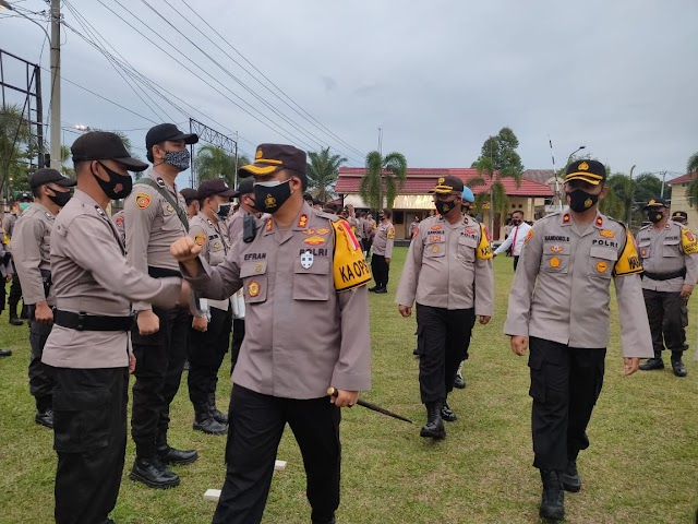 Amankan Pleno KPU 500 Personil Gabungan Disiagakan