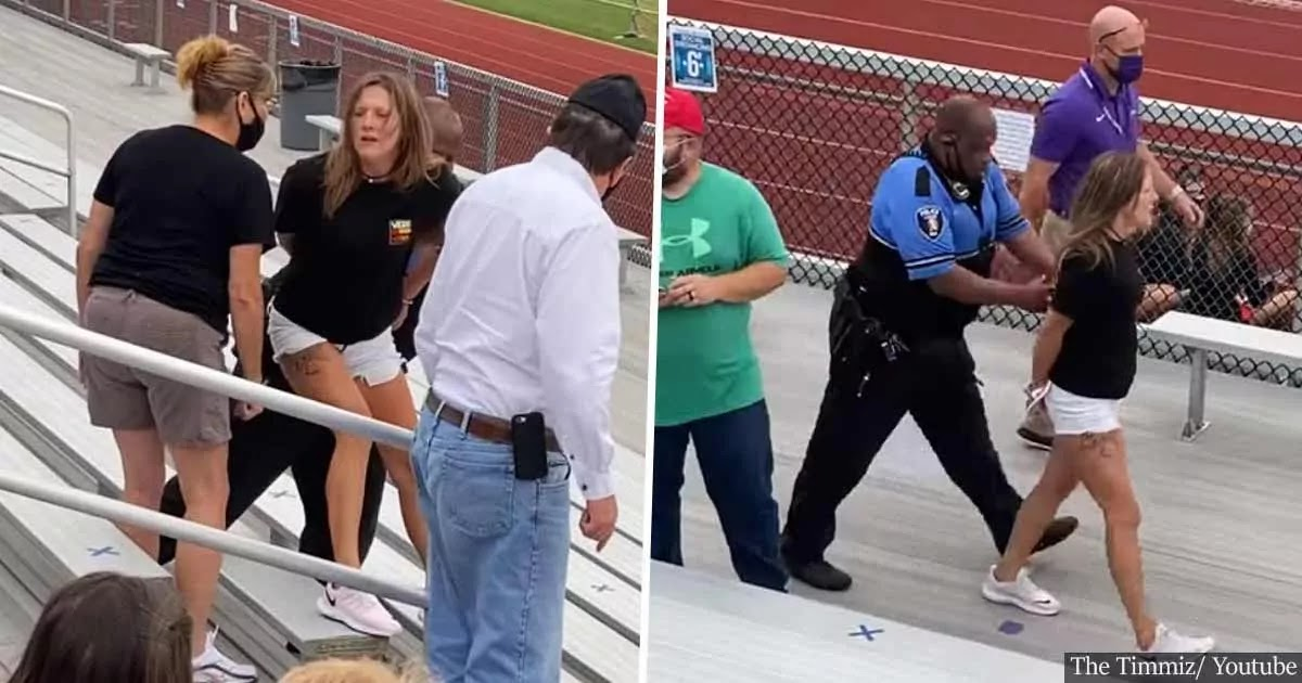 Video: Woman Is Tased And Charged With Criminal Trespassing For Not Wearing Face Mask At School Football Game
