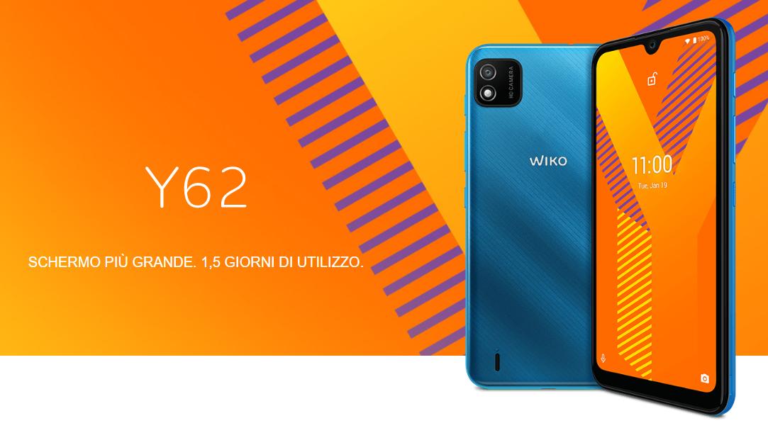 Nuovo Wiko Y62, Android 11 e tanta sostanza a 89 euro