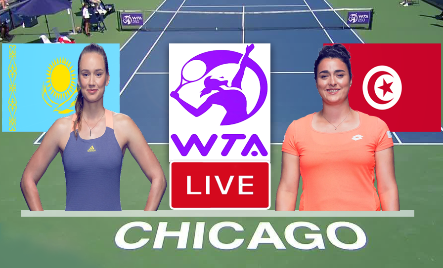 Match De Tennis: Ons Jabeur vs Elina Svitolina En Direct WTA Chicago tennis 2021