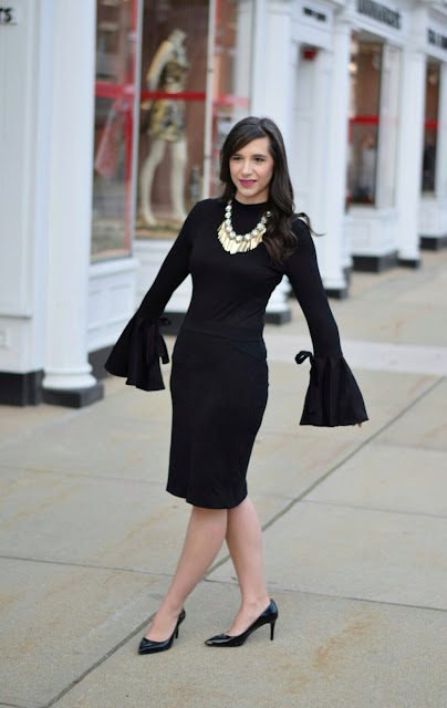 Affordable Bell Sleeve Top for Winter Formal Look