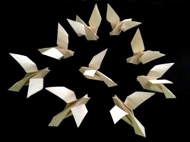 Origami Birds - How to fold an Origami Dove step-by-step - YouTube | 480x640