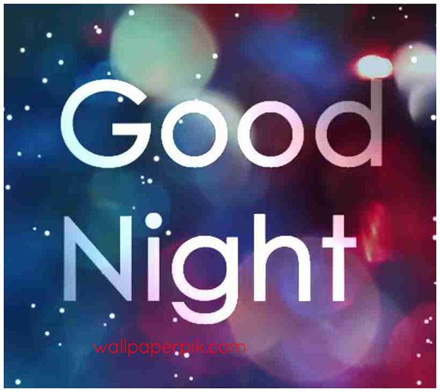simple good night image