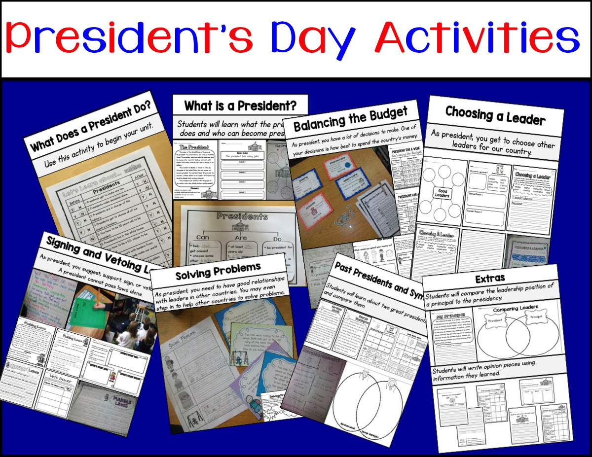 Sarah S First Grade Snippets President S Day Activities
