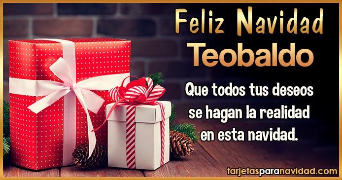 Feliz Navidad Teobaldo