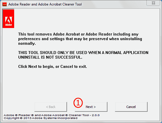 Adobe Cleaner Tool 1