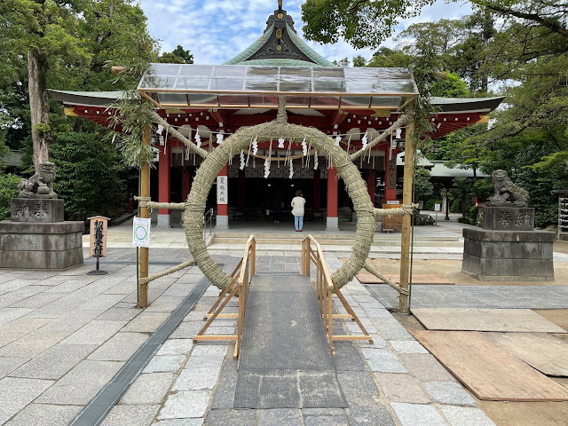 茅の輪のくぐり方 (@ 久伊豆神社 - @hisaizu_shrine in 越谷市, 埼玉県)