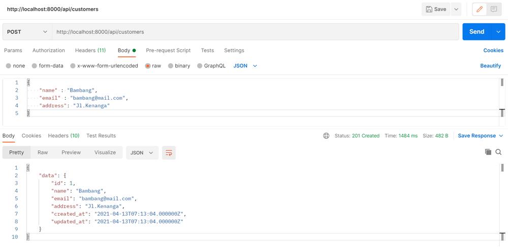 Vue.js CRUD: Membuat backend REST API laravel 8