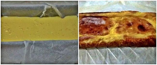 Preparación del pastel de flan