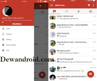 BBM Mod Beta Theme Red Material Versi 2.9 apk [Full Connected]