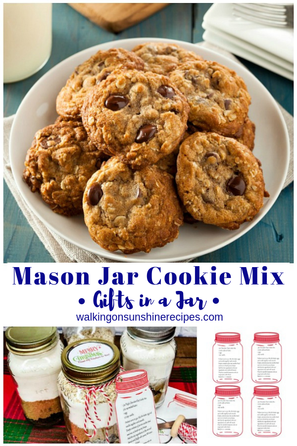 Mason jar cookie kit printables
