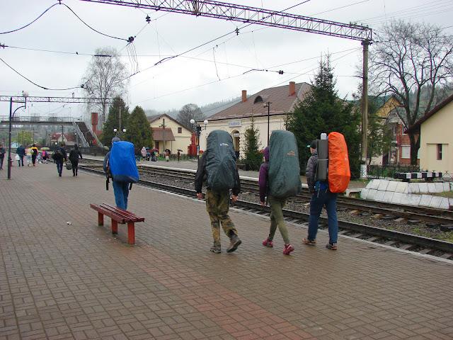 На вокзале в Славском