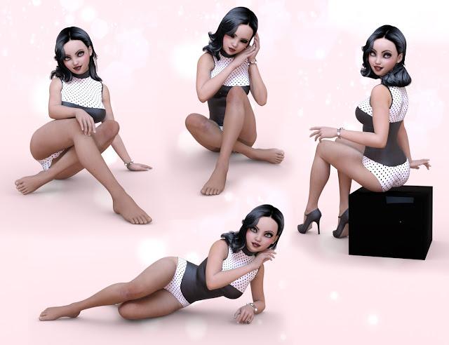 Honey Bun Pose - Expression Bundle for Girl 7