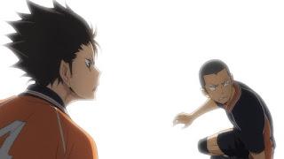 ハイキュー!! アニメ 3期8話 田中龍之介 西谷夕   Karasuno vs Shiratorizawa   HAIKYU!! Season3