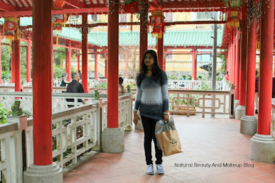 Fusion of Chinese and Western architecture Pavilions at Jardim De Lou Lim Ieoc Garden, Macau, women doing Tai Chi behind me