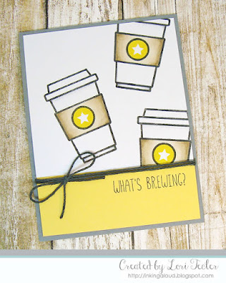 What's Brewing? card-designed by Lori Tecler/Inking Aloud-stamps from Honey Bee Stamps