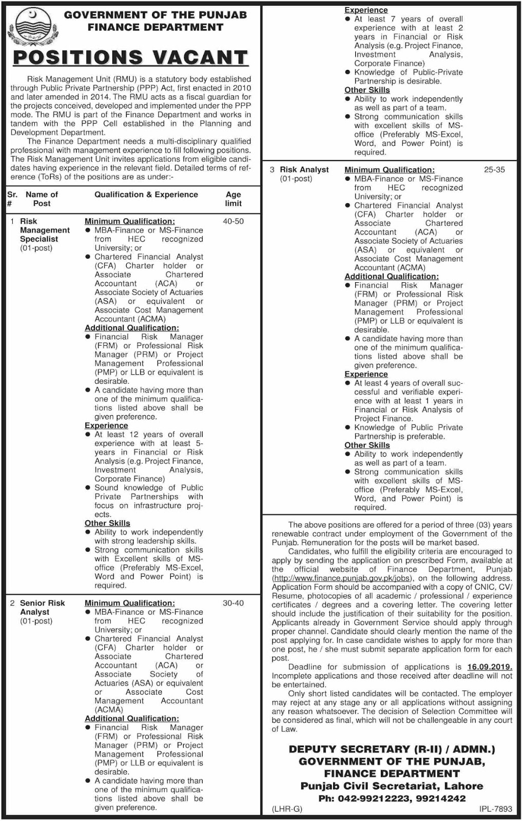 Account Department Jobs - Govt Of Pakistan - Find Pak Jobs