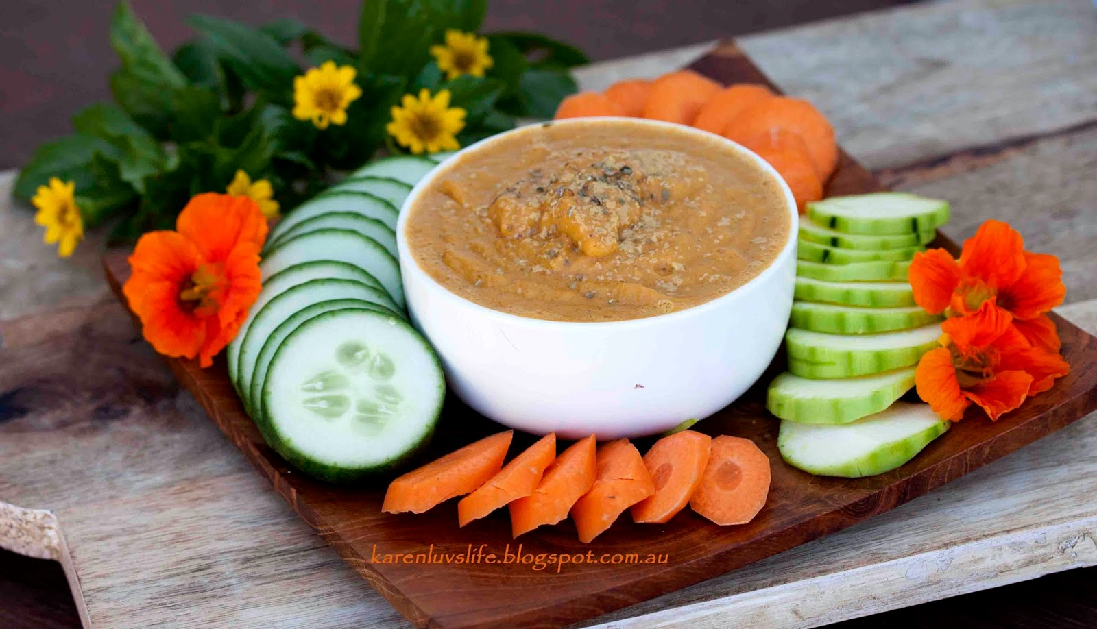 Were low fat veggie dip recipe that