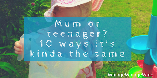 10 ways that having a small child is a bit like being a teenager