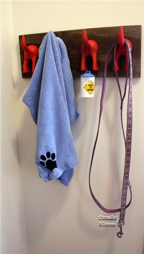 how to make a dog leash organizer