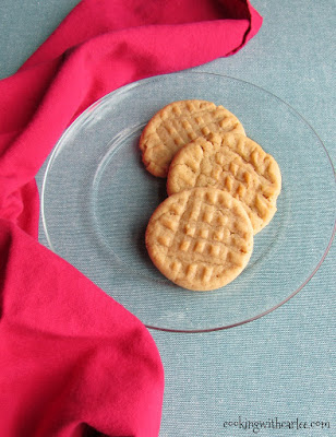 Great Grandma Mildred's Peanut Butter Cookies, shared by Cooking with Carlee at The Chicken Chick's Clever Chicks Blog Hop