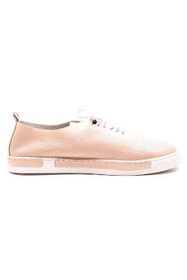pudra bayan rahat deri ayakkabı
