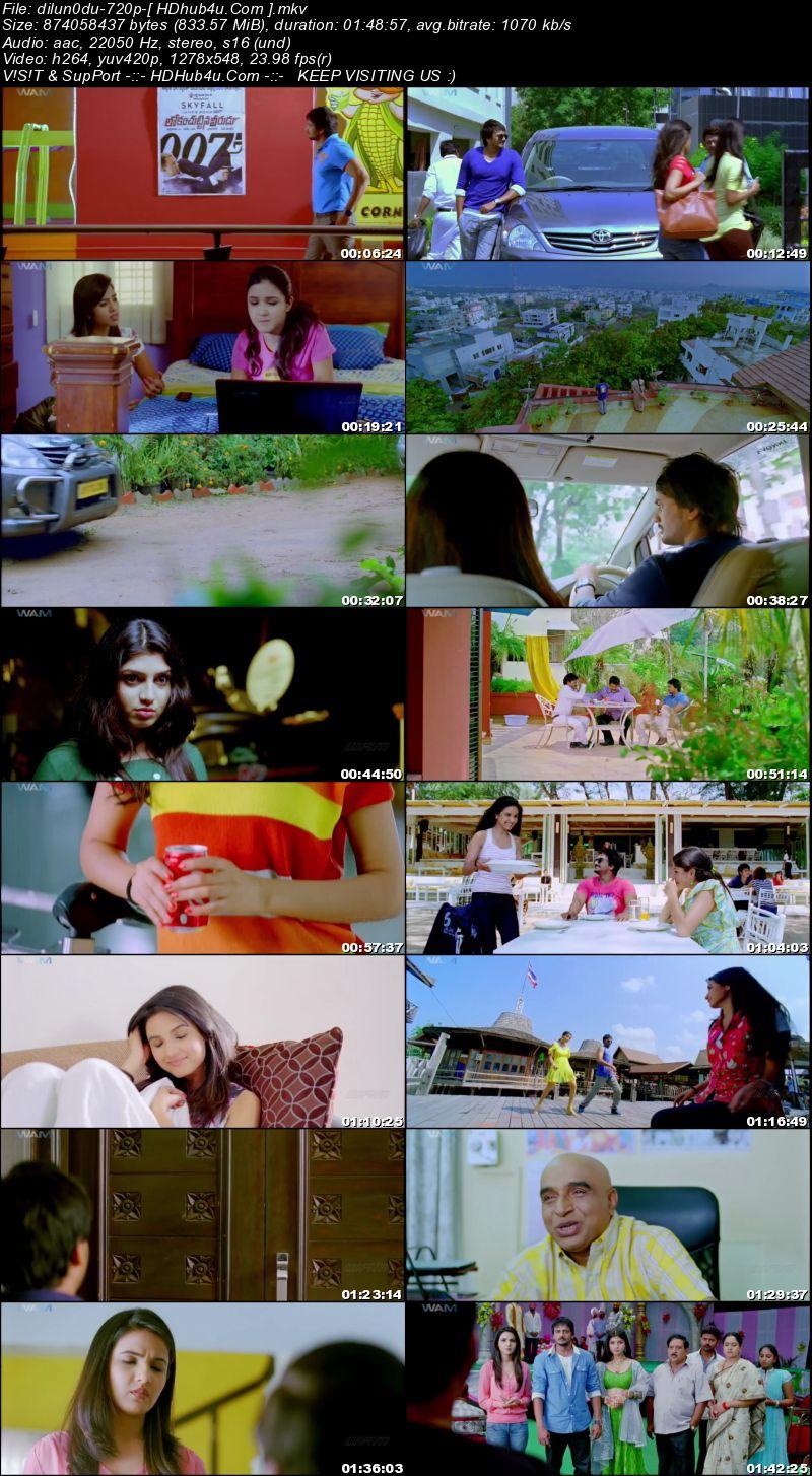 Dillunodu 2014 Hindi Dubbed 720p HDRip 800mb Download