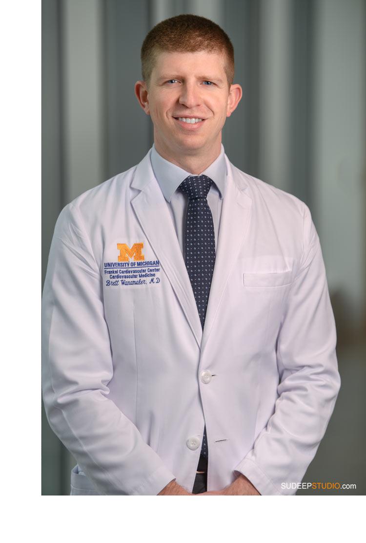 University of Michigan Medicine Hospital Doctor Headshot SudeepStudio.com Ann Arbor Professional Portrait Photographer