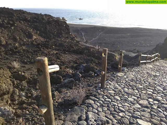 El Ayuntamiento de Fuencaliente lamenta los daños ocasionados por vándalos en la playa Echentive