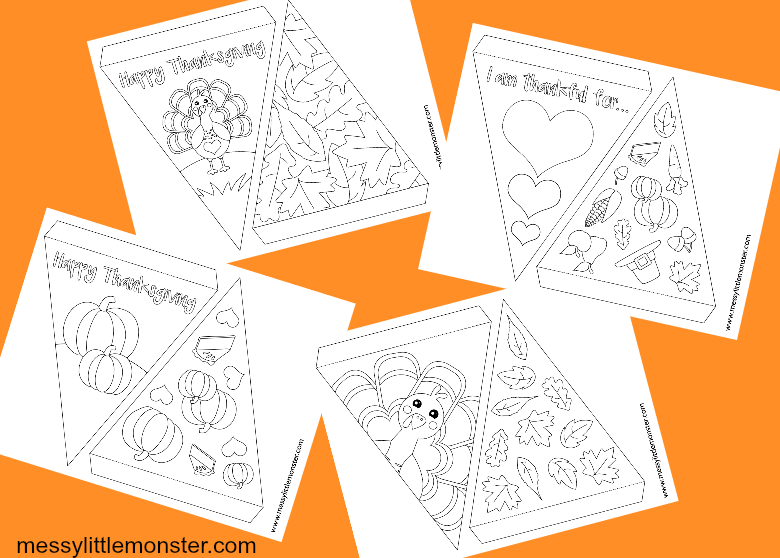 DIY Thanksgiving printable bunting template