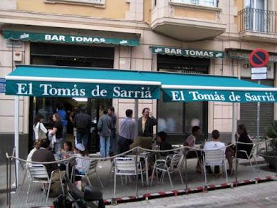 Bar el Tomás de Sarria de Barcelona