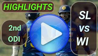 SL vs WI 2nd ODI 2020