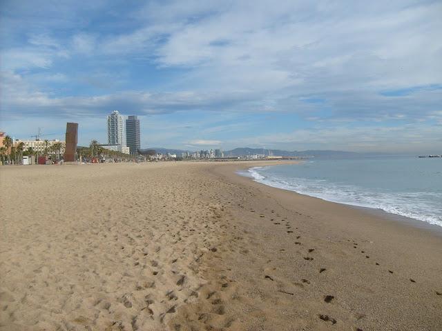 beach barcelona spain