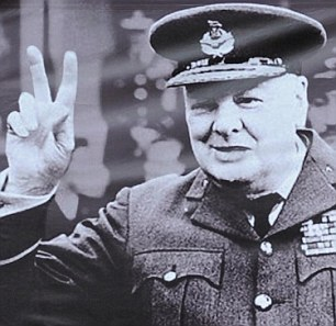 Winston Churchill with cigar digitally removed