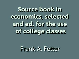 Source book in economics