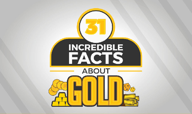 31 Incredible Facts about Gold #infographic