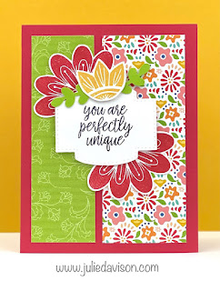 Stampin' Up! In Symmetry Card ~ Pattern Party Host Paper ~ 1 Card Layout, 4 Cards ~ www.juliedavison.com #stampinup