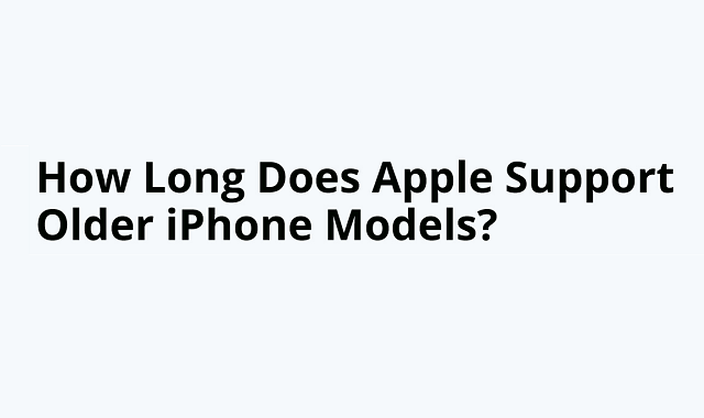 iOS compatibility with iPhone models