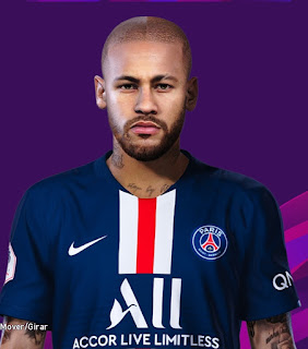 PES 2020 Faces Neymar Jr by Valentinlgs10