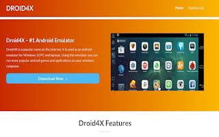 emulator android pc terbaik droid4x