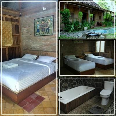 Harian Murah Di Jogja Ada Kolam Renang Private Pool Dekat Wisata Tembi Rumah Villa Dengan Fasilitas Lengkap 3 Kamar AC Bisa Untuk Rombongan 8 Orang