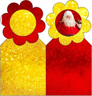 Para marcapáginas de Santa Claus en Rojo y Dorado.