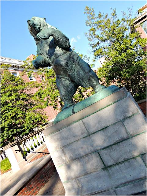 Escultura del Oso en el Campus de la Universidad de Brown, Providence