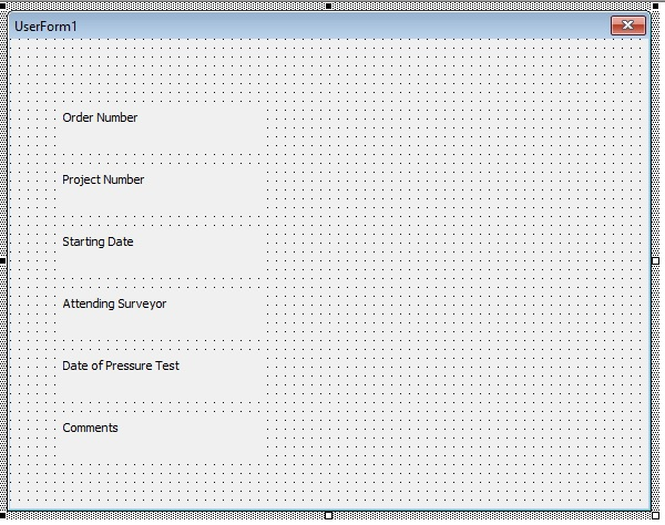 VBA Userform with only labels