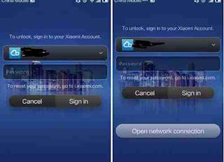membuka password xiaomi