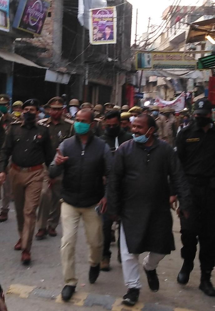 एसपी बिजनौर ने किया शेरकोट में फ्लैग मार्च