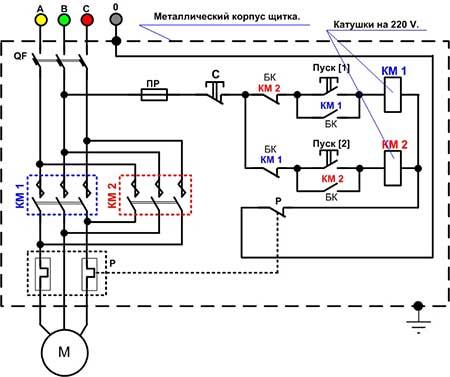 Схема магнитного пускателя катушкой фото 511