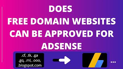 free domain adsense approval