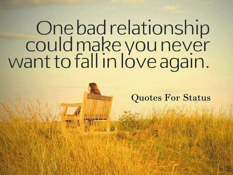One Bad Relationship Could Make You Never Want To Fall In