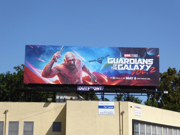 Drax Guardians of the Galaxy 2 billboard